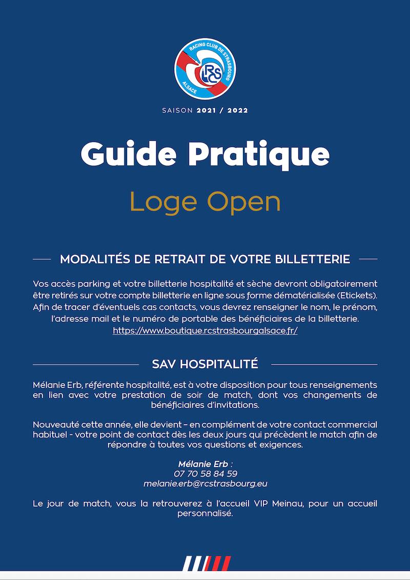 Guide Pratique Loge Open
