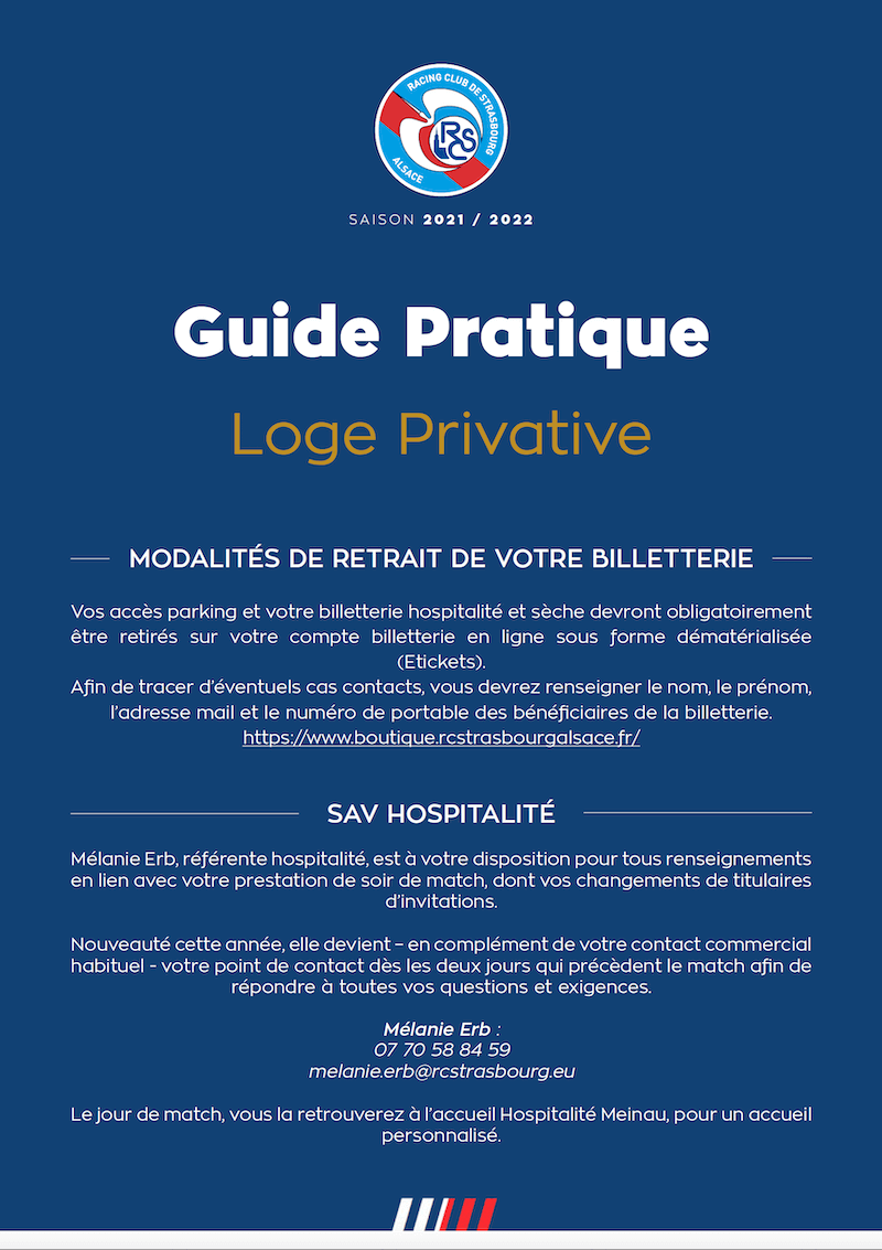 Guide Pratique salon Loge Privative
