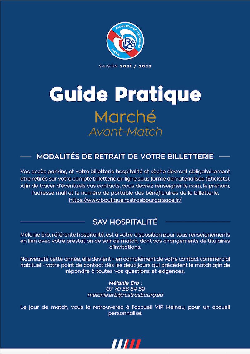 Guide Pratique avant-match