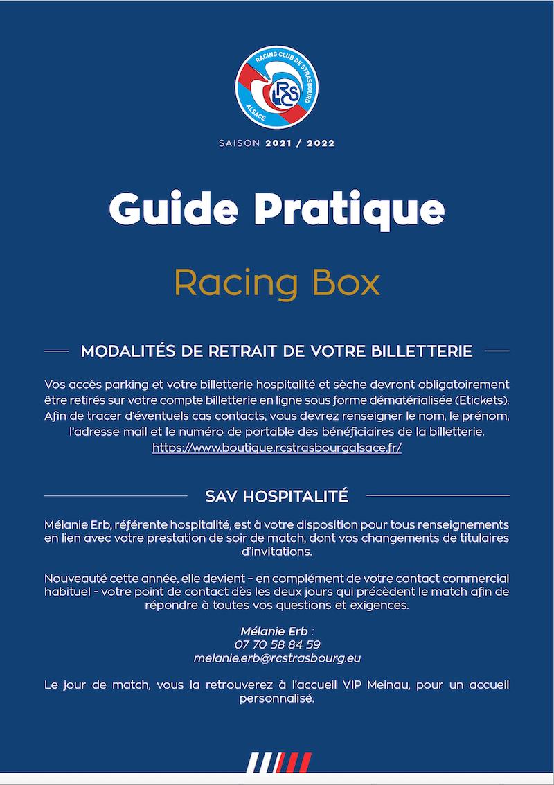 Guide Pratique Racing Box
